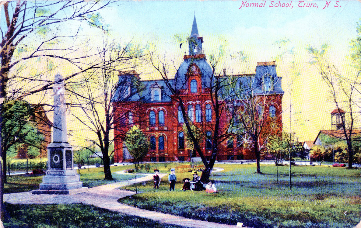 Truro Nova Scotia >> Postcard Of A Normal School In Truro Nova Scotia
